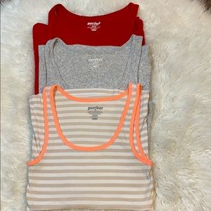 3 OLD NAVY PERFECT SUMMER TANK TOPS